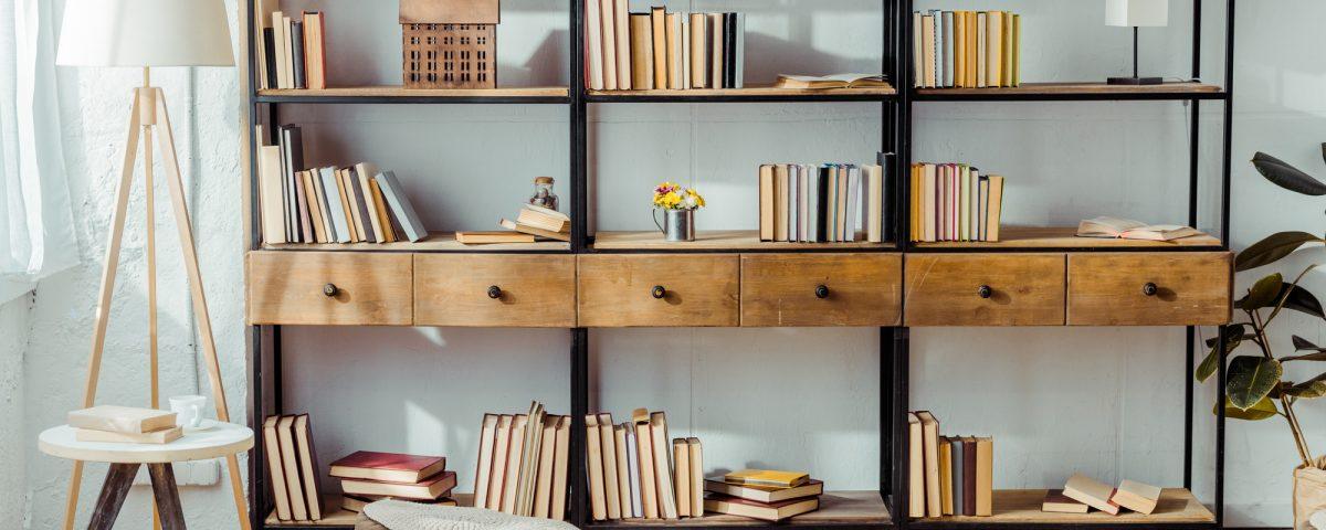 Bibliothéque pour intérieur design